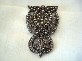 1940's Sterling Silver and Marcasite Dress Clip (SOLD)